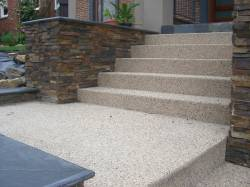 Aggregate concrete stairs