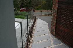 Concrete with pavers