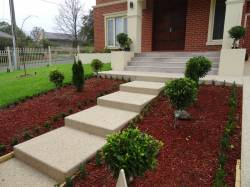 Light aggregate concrete stairs