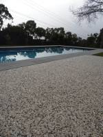 Pool surround made from pre mix concrete